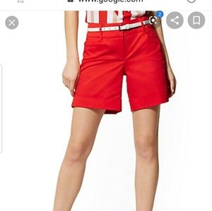New York & company orange Bermuda shorts 6